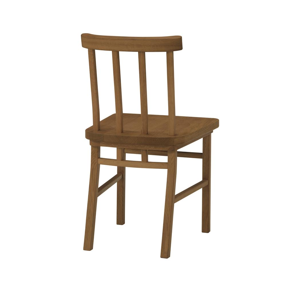 merge dining chair / マージ ダイニングチェア 4本背(ブラウン(背面))
