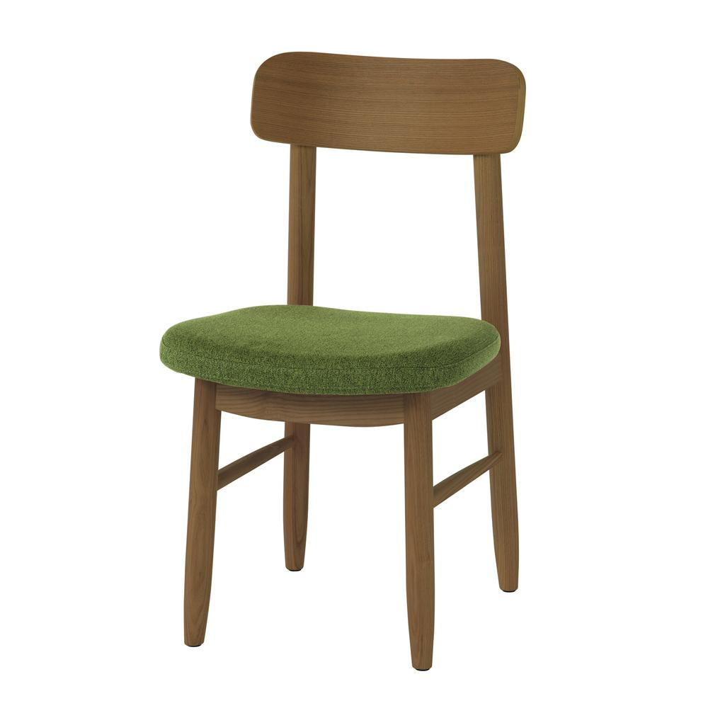saucer dining chair / ソーサー ダイニングチェア (グリーン/ブラウン)