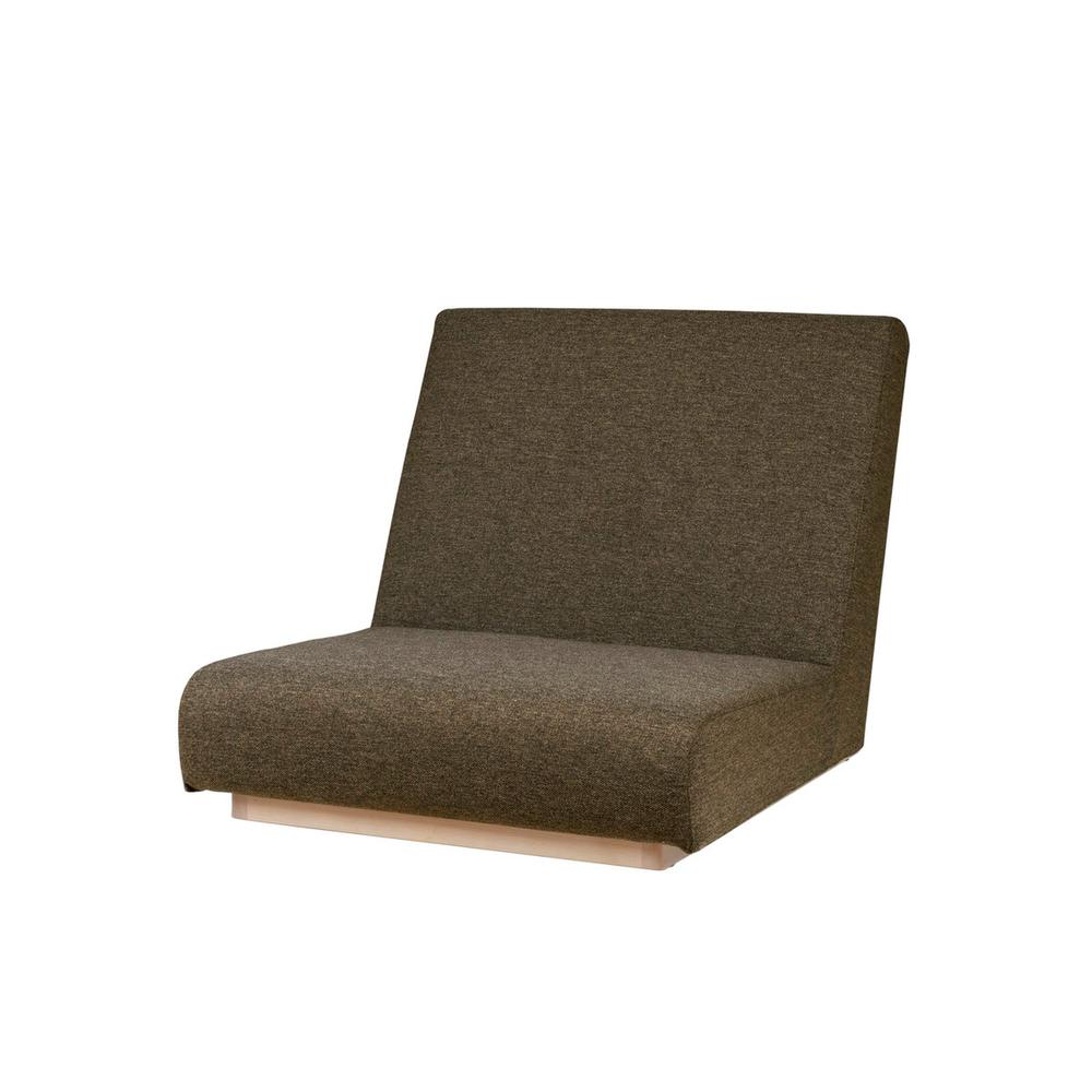 form low sofa 1seater / フォームローソファ 1人掛け(ブラウン)